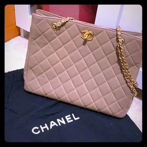 Authentic Chanel Caviar Quilted Tote